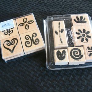 """Stampin' Up! 2004 Set of 4 Rubber Stamps  """"Flower"""